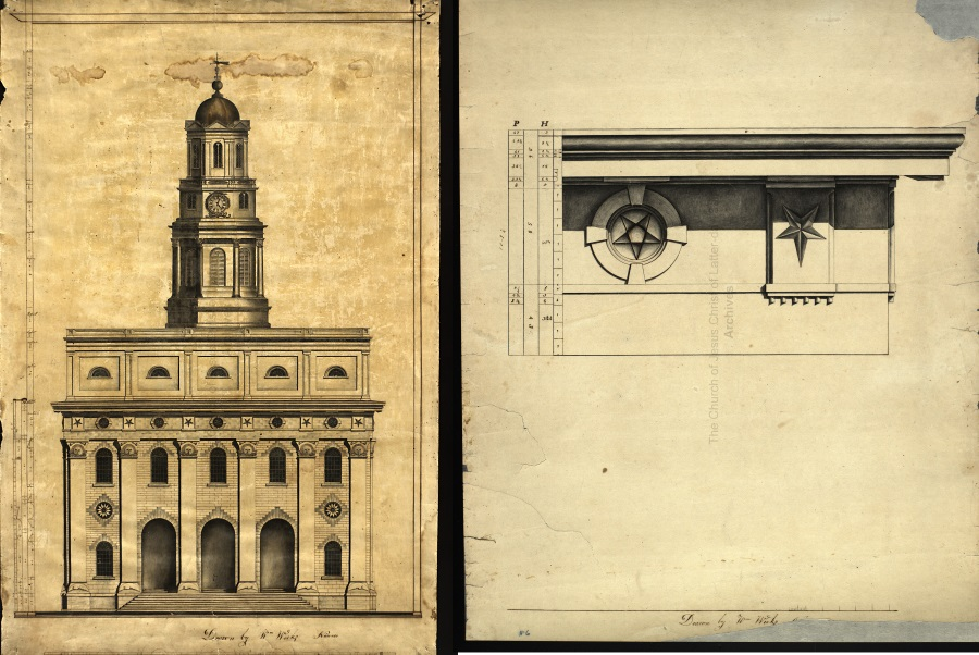 William Weeks Nauvoo architectural drawings